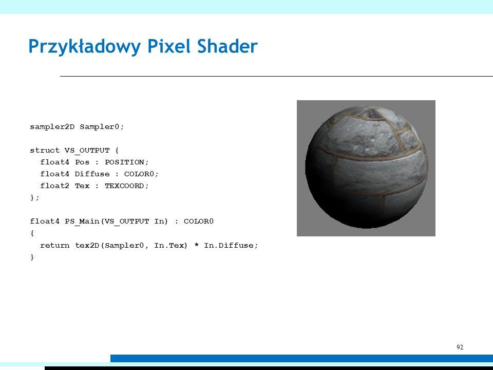 Przykładowy Pixel Shader