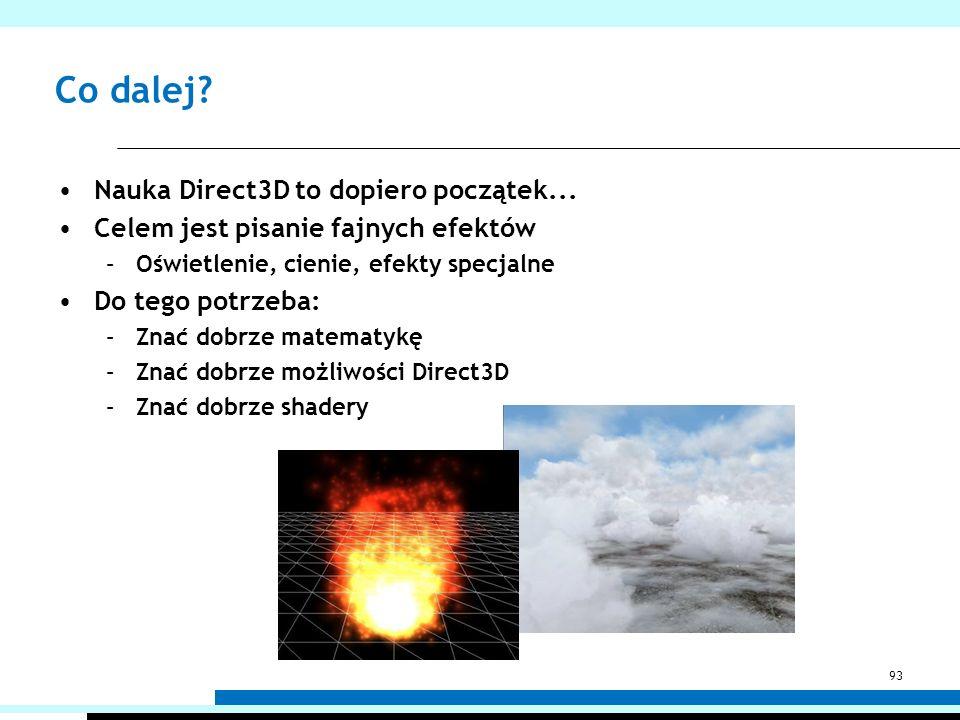 Co dalej Nauka Direct3D to dopiero początek...