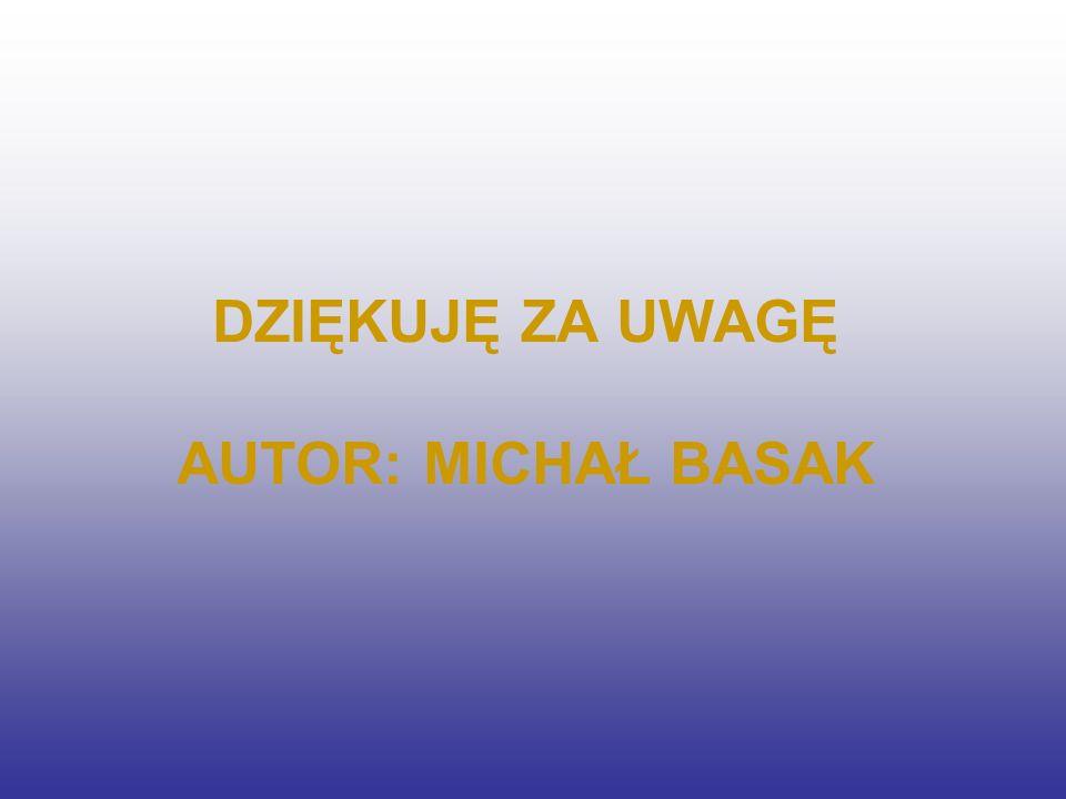 DZIĘKUJĘ ZA UWAGĘ AUTOR: MICHAŁ BASAK