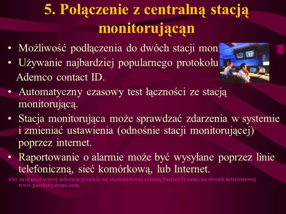 5. Połączenie z centralną stacją monitorującąn