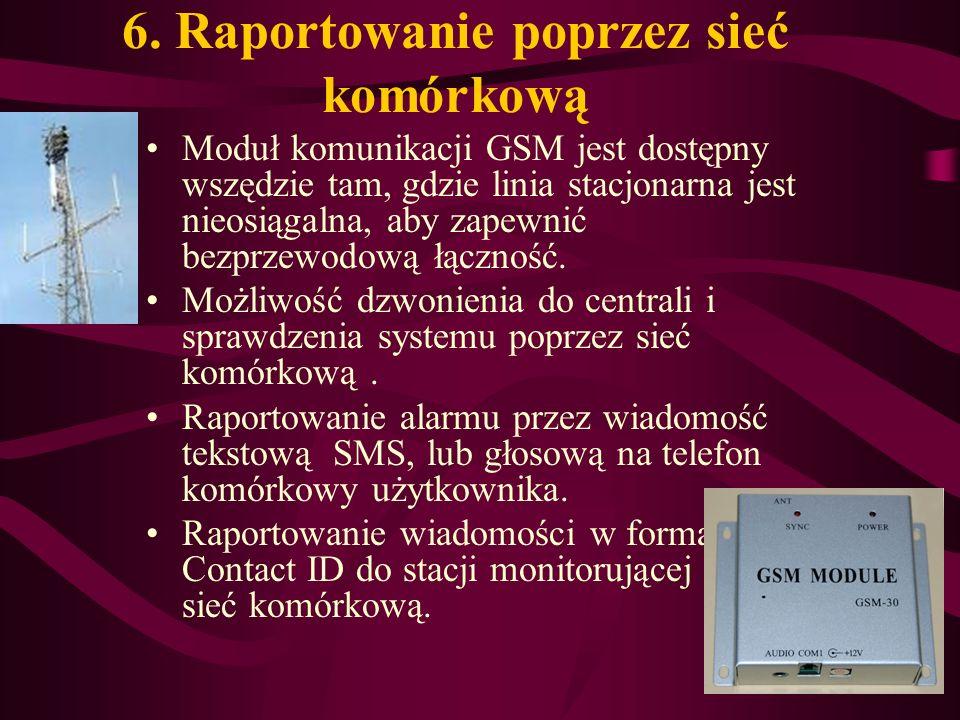 6. Raportowanie poprzez sieć komórkową