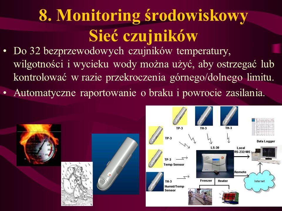 8. Monitoring środowiskowy Sieć czujników