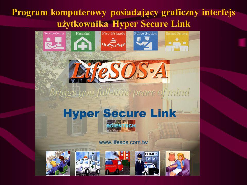 Program komputerowy posiadający graficzny interfejs użytkownika Hyper Secure Link