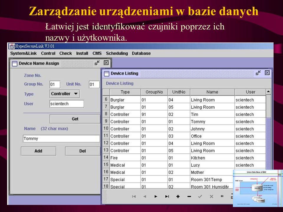 Zarządzanie urządzeniami w bazie danych