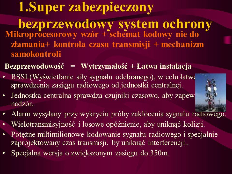 1.Super zabezpieczony bezprzewodowy system ochrony