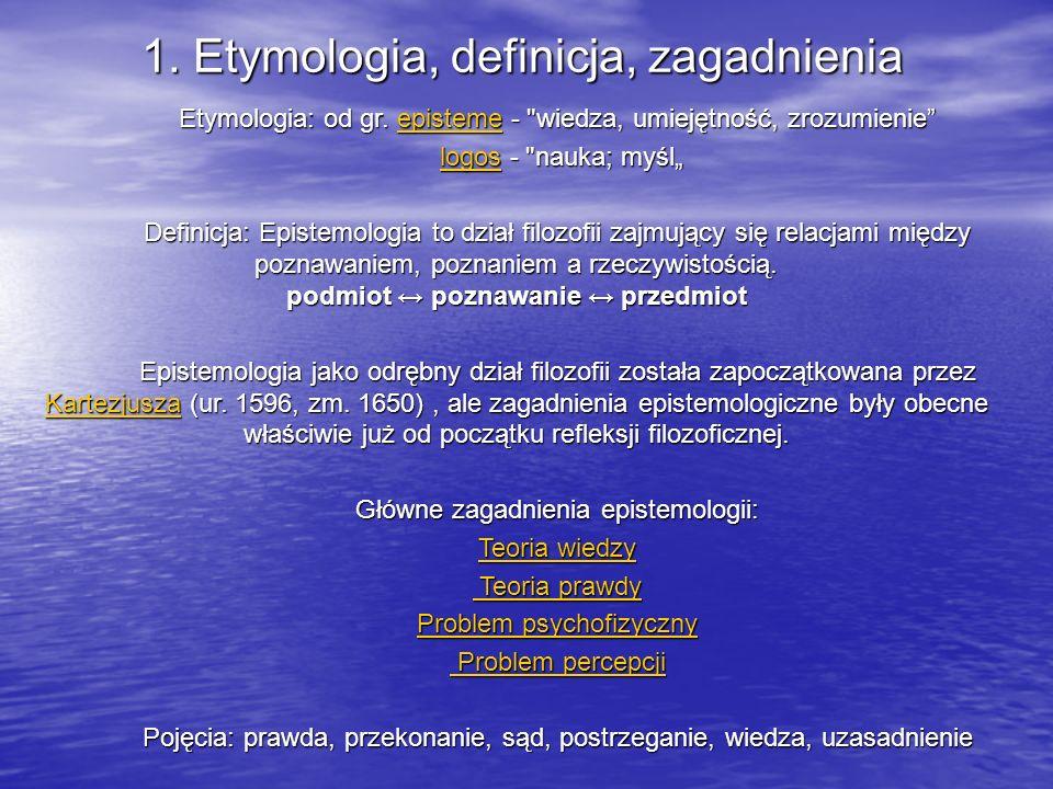 1. Etymologia, definicja, zagadnienia
