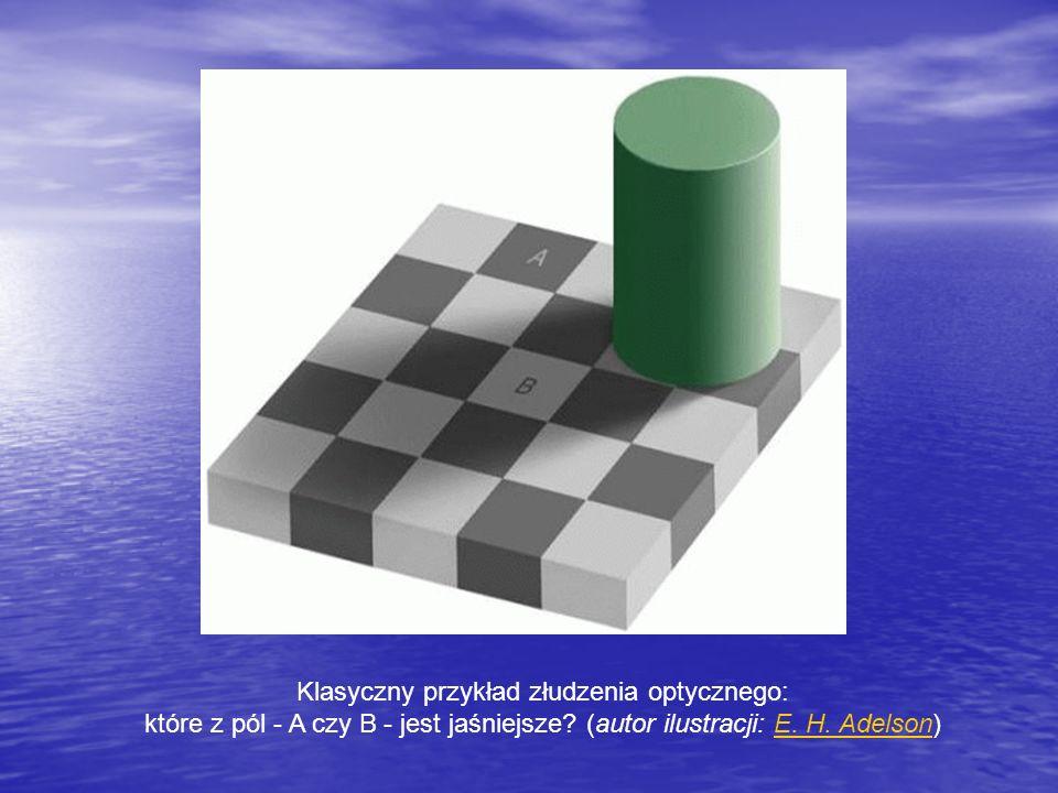 Klasyczny przykład złudzenia optycznego: