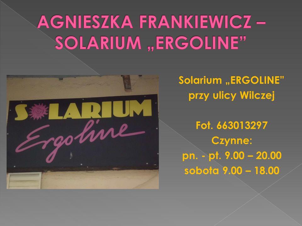 """AGNIESZKA FRANKIEWICZ – SOLARIUM """"ERGOLINE"""