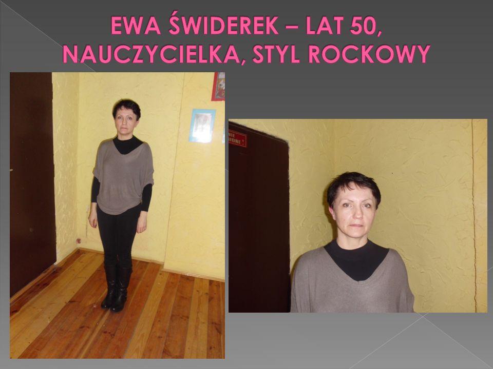 EWA ŚWIDEREK – LAT 50, NAUCZYCIELKA, STYL ROCKOWY