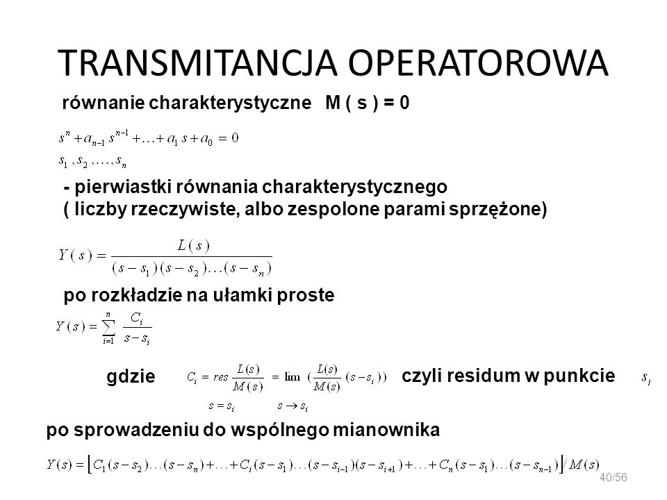 TRANSMITANCJA OPERATOROWA