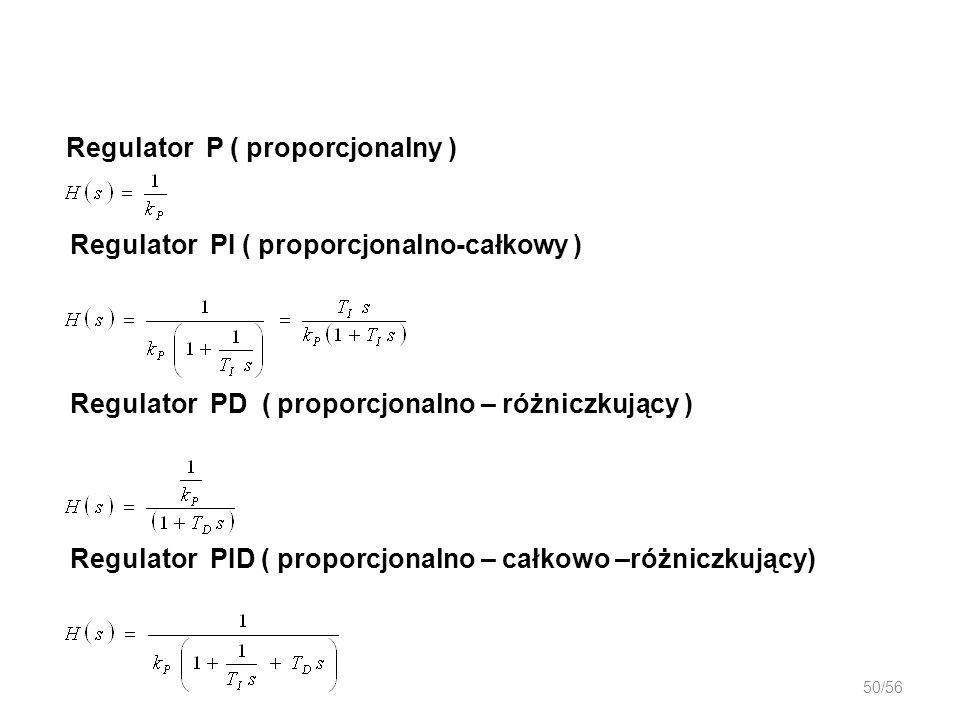 Regulator P ( proporcjonalny )