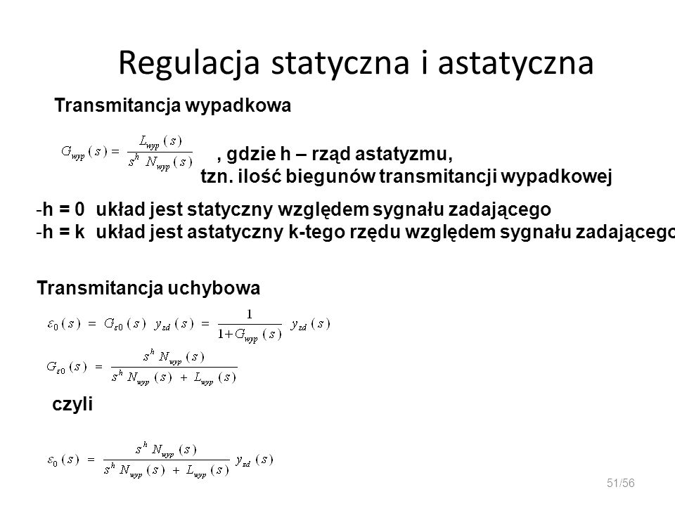 Regulacja statyczna i astatyczna