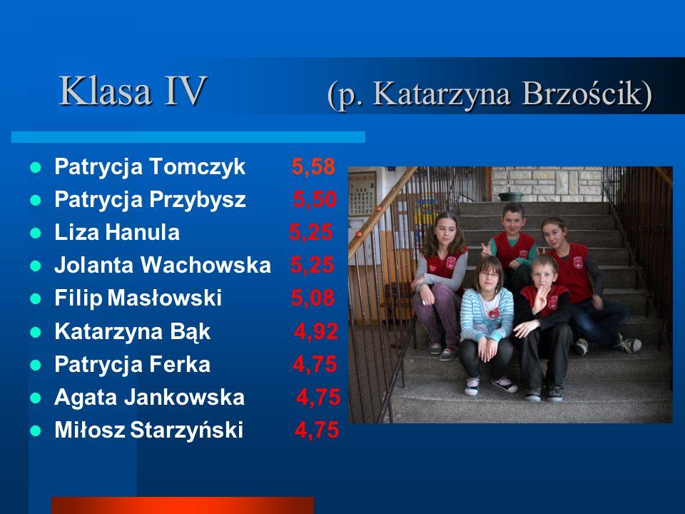 Klasa IV (p. Katarzyna Brzościk)