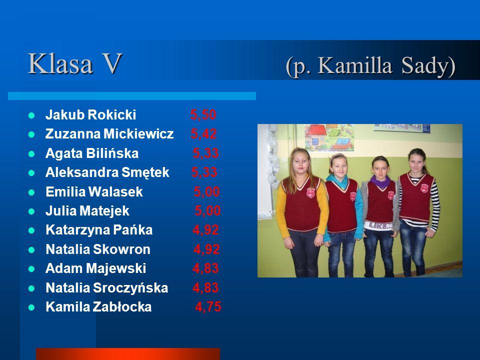 Klasa V (p. Kamilla Sady)