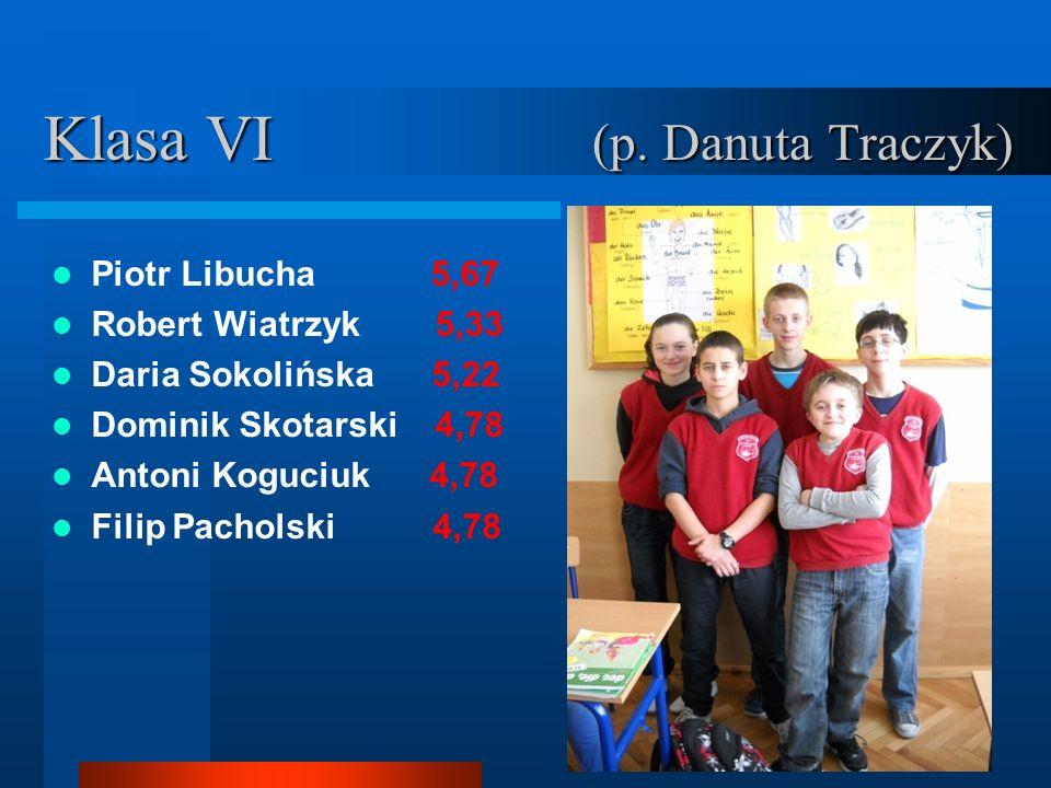 Klasa VI (p. Danuta Traczyk)
