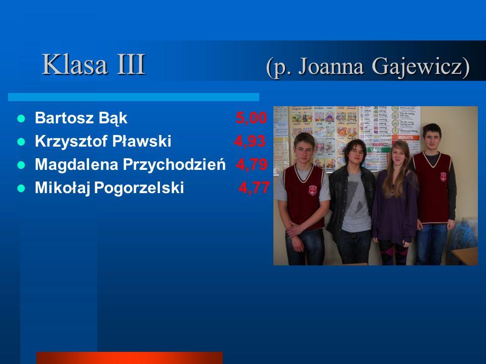 Klasa III (p. Joanna Gajewicz)