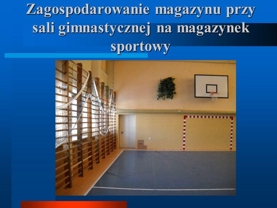 Zagospodarowanie magazynu przy sali gimnastycznej na magazynek sportowy