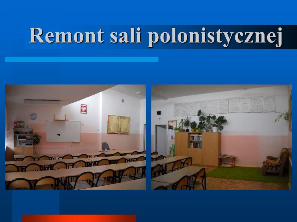 Remont sali polonistycznej