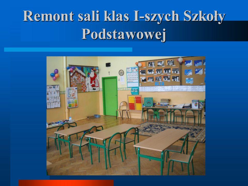 Remont sali klas I-szych Szkoły Podstawowej