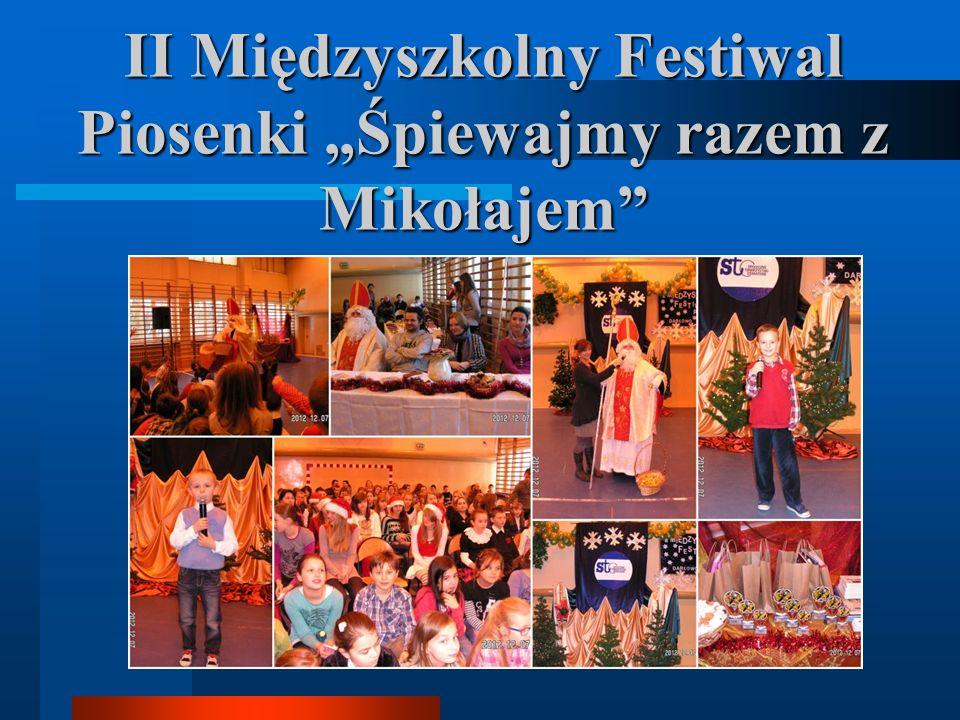 """II Międzyszkolny Festiwal Piosenki """"Śpiewajmy razem z Mikołajem"""