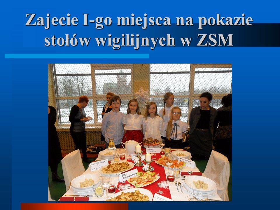 Zajecie I-go miejsca na pokazie stołów wigilijnych w ZSM
