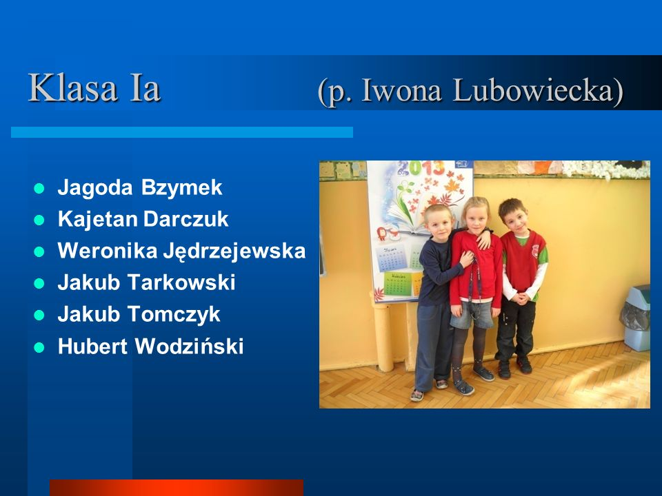 Klasa Ia (p. Iwona Lubowiecka)