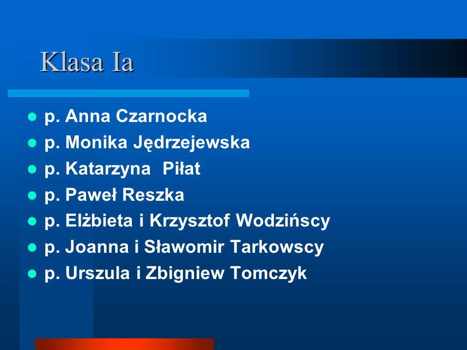Klasa Ia p. Anna Czarnocka p. Monika Jędrzejewska p. Katarzyna Piłat