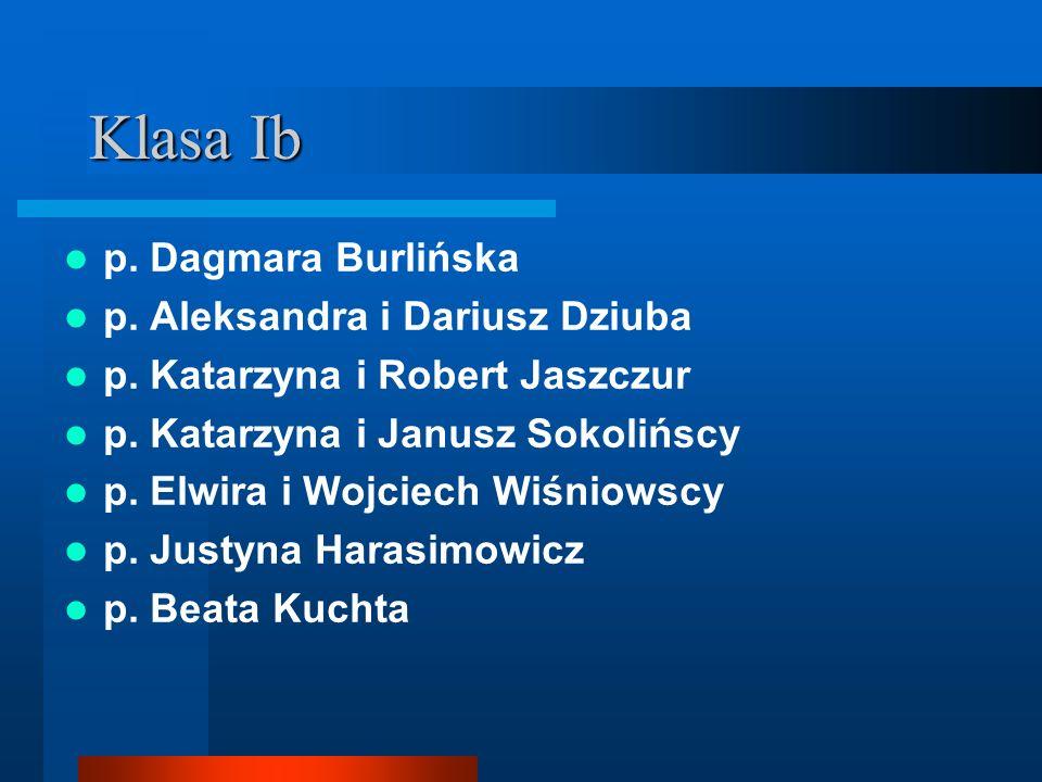 Klasa Ib p. Dagmara Burlińska p. Aleksandra i Dariusz Dziuba