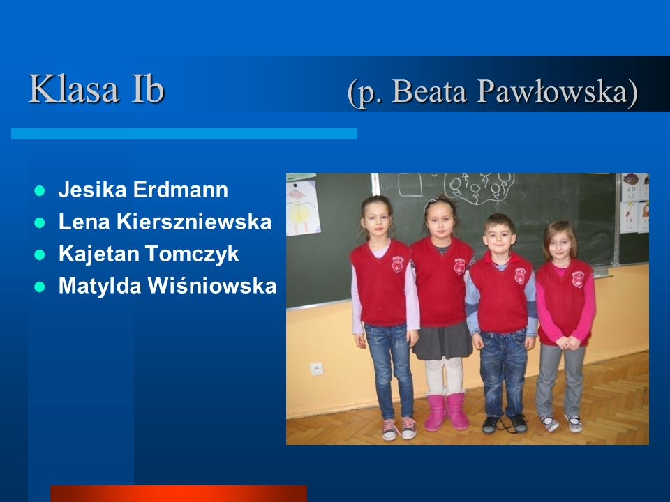 Klasa Ib (p. Beata Pawłowska)