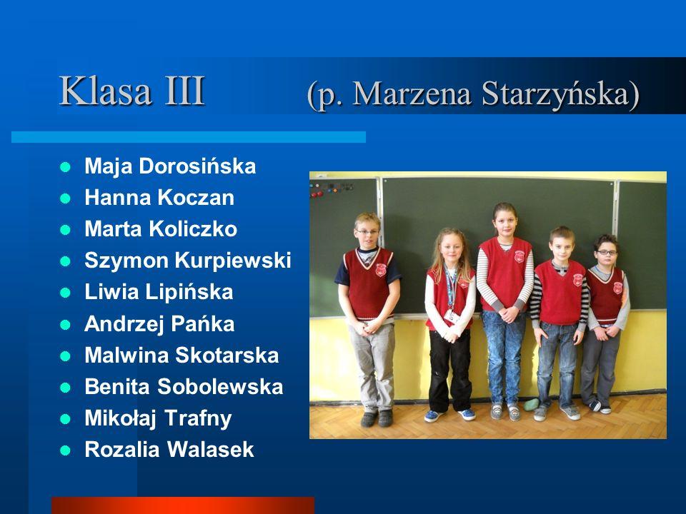 Klasa III (p. Marzena Starzyńska)