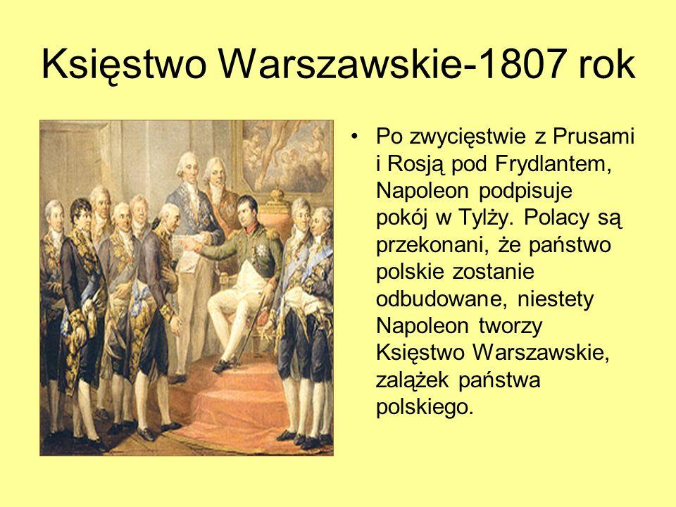Księstwo Warszawskie-1807 rok