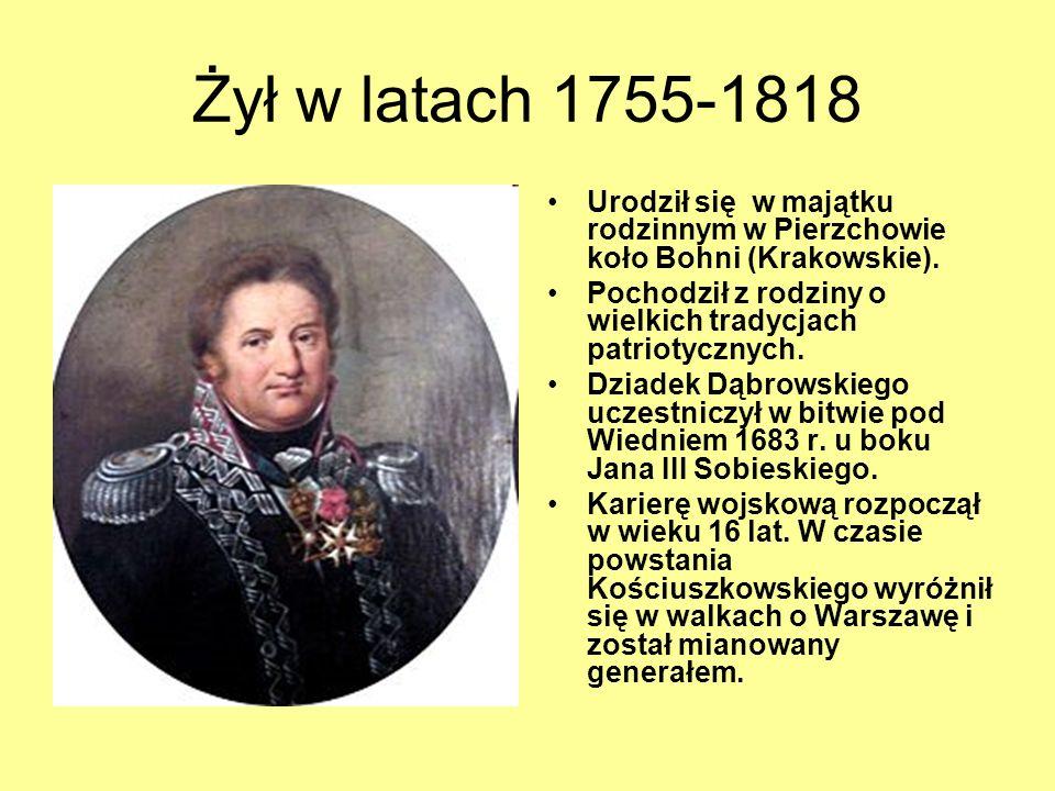 Żył w latach 1755-1818 Urodził się w majątku rodzinnym w Pierzchowie koło Bohni (Krakowskie).