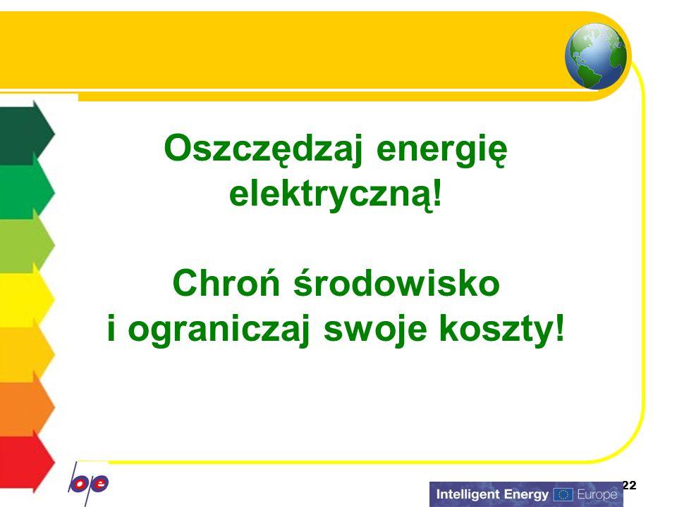 Oszczędzaj energię elektryczną!