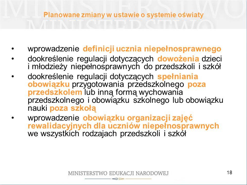 Planowane zmiany w ustawie o systemie oświaty