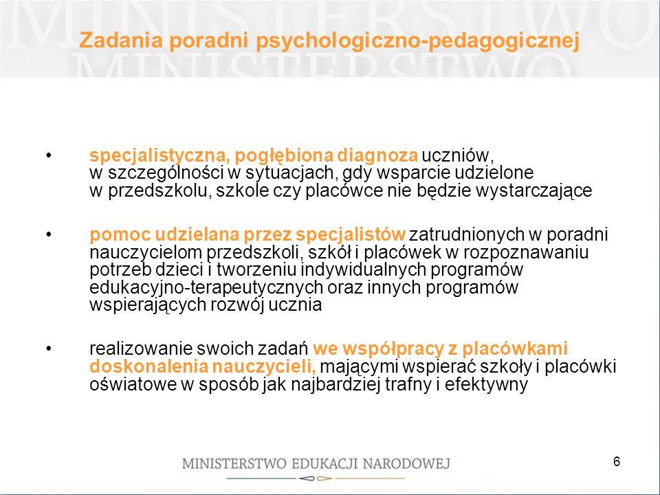 Zadania poradni psychologiczno-pedagogicznej