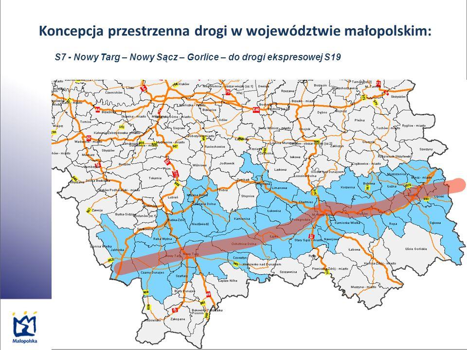 Koncepcja przestrzenna drogi w województwie małopolskim: