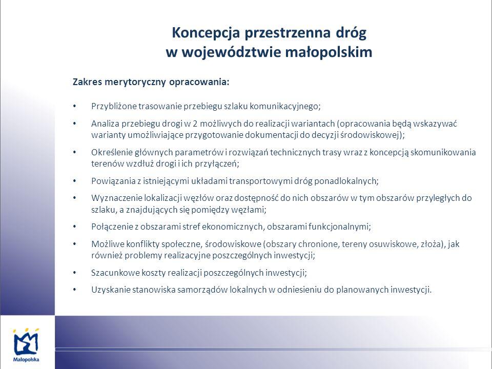 Koncepcja przestrzenna dróg w województwie małopolskim