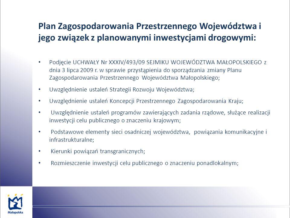 Plan Zagospodarowania Przestrzennego Województwa i jego związek z planowanymi inwestycjami drogowymi:
