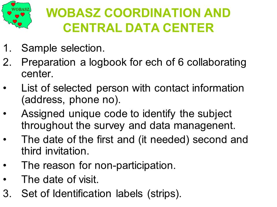 WOBASZ COORDINATION AND CENTRAL DATA CENTER