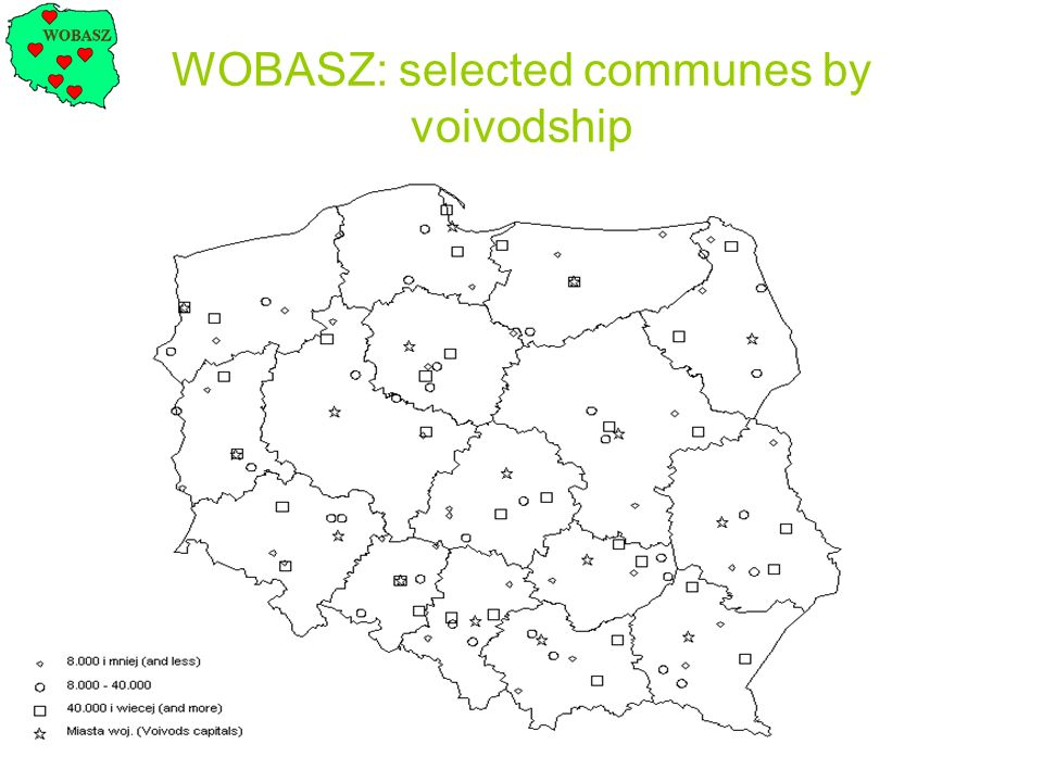 WOBASZ: selected communes by voivodship