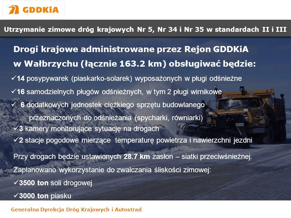 Drogi krajowe administrowane przez Rejon GDDKiA