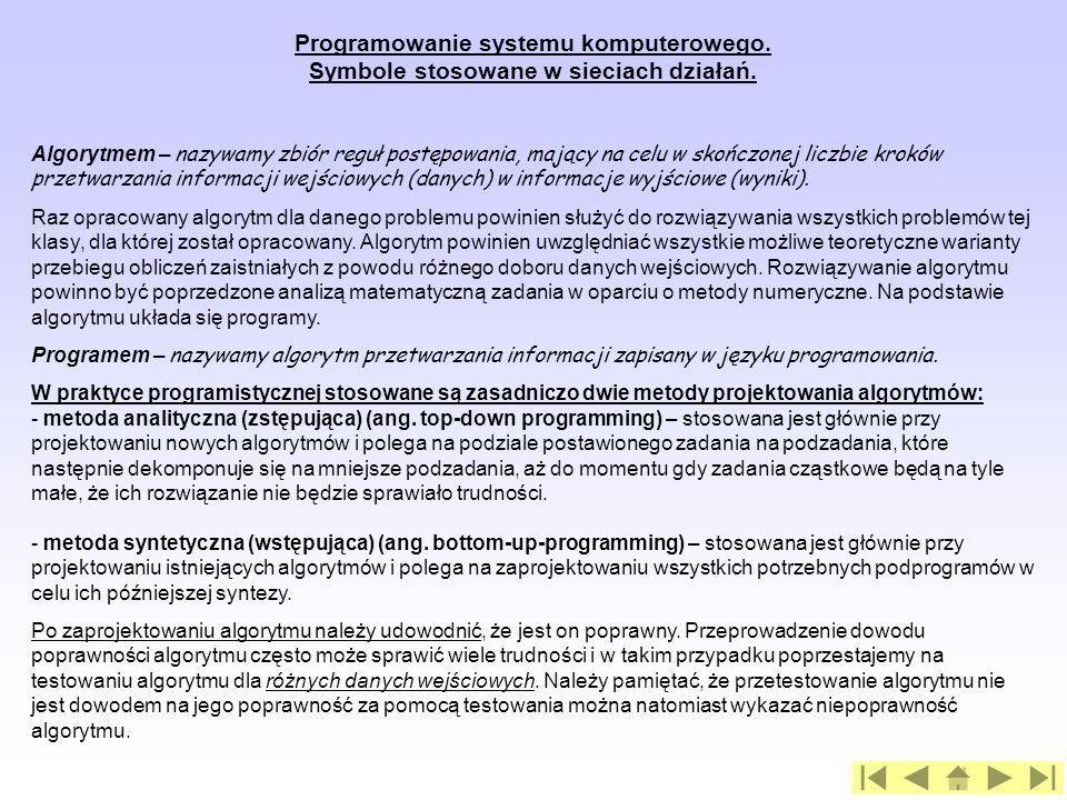 Programowanie systemu komputerowego