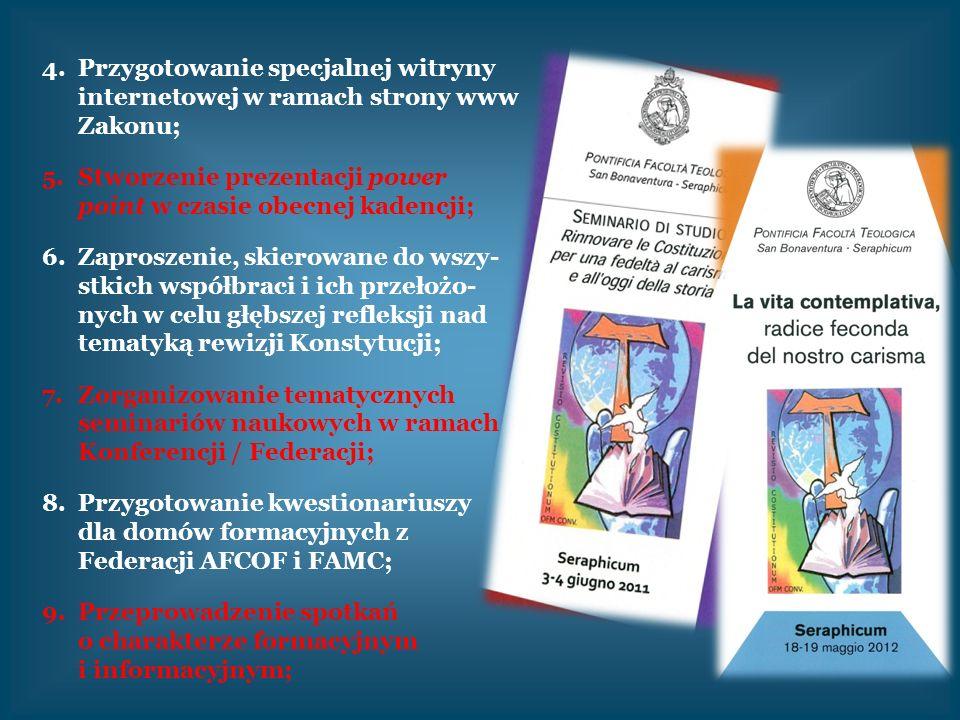 Przygotowanie specjalnej witryny internetowej w ramach strony www Zakonu;