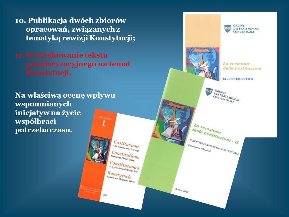 Publikacja dwóch zbiorów opracowań, związanych z tematyką rewizji Konstytucji;