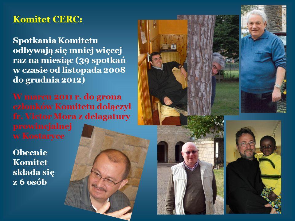 Komitet CERC: Spotkania Komitetu odbywają się mniej więcej raz na miesiąc (39 spotkań w czasie od listopada 2008 do grudnia 2012)