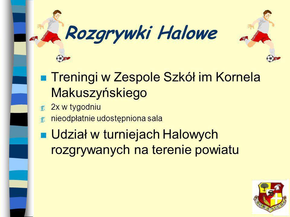 Rozgrywki Halowe Treningi w Zespole Szkół im Kornela Makuszyńskiego