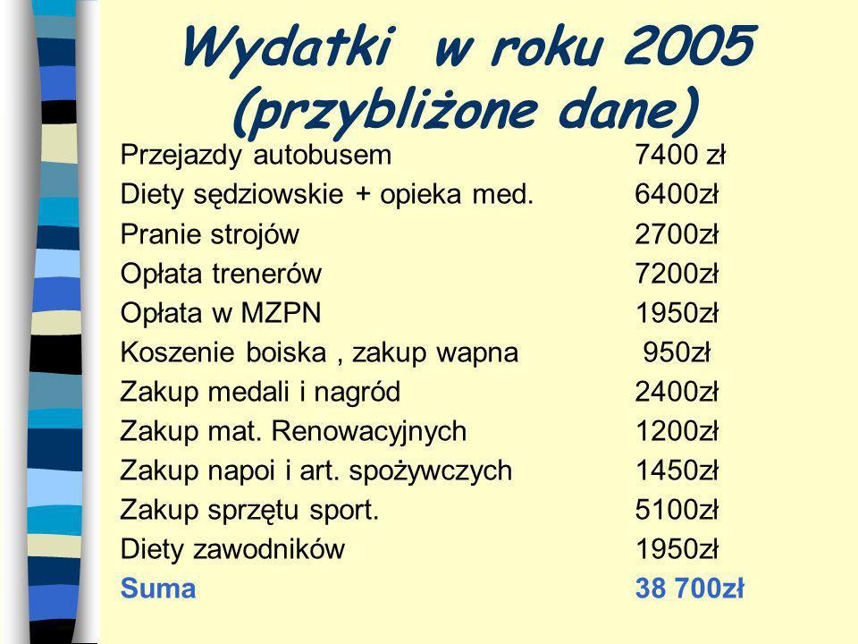Wydatki w roku 2005 (przybliżone dane)
