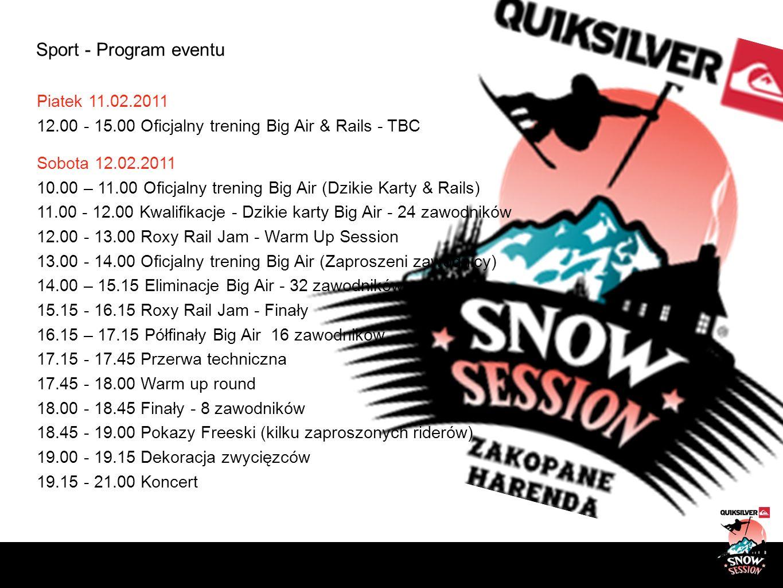 Sport - Program eventu Piatek 11.02.2011