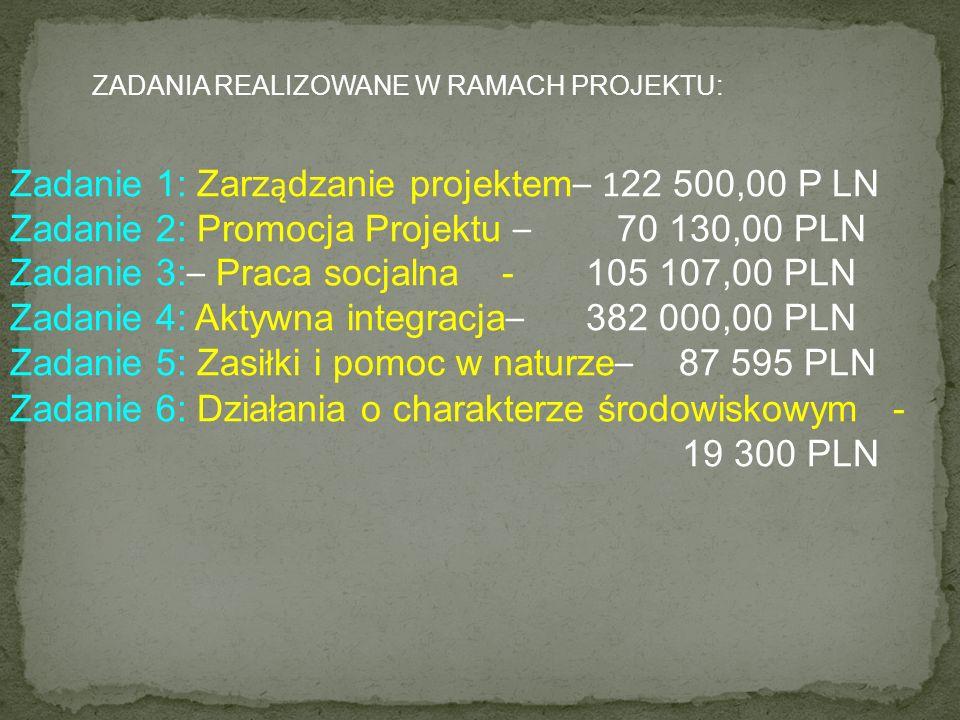 Zadanie 1: Zarządzanie projektem– 122 500,00 P LN