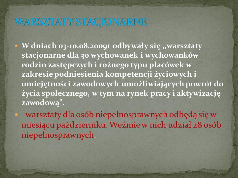 WARSZTATY STACJONARNE